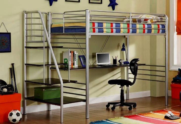Кровать чердак металлическая: особенности конструкций