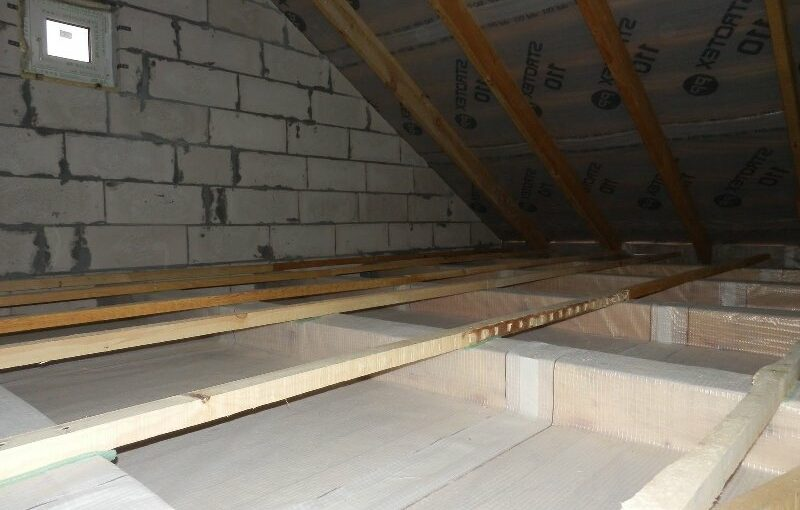 Утепление чердака в доме с плоской и скатной крышей
