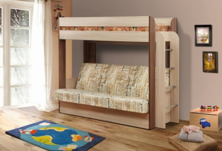 Чердак кровать с диваном внизу для родителей: обзор мебельного рынка и 4 необычных решения для малогабаритных помещений