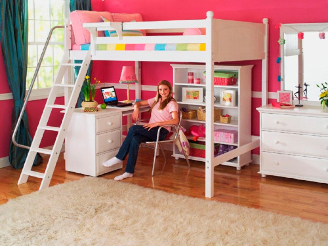 Кровать чердак для девочки с рабочей зоной: 5 критериев выбора