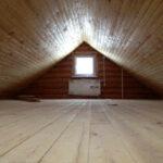 Готовый пол на чердаке деревянного дома