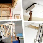 Различные типы чердачных лестниц и люков